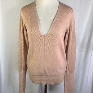Free People | Ribbed Blush Cashmere Blend Sweater